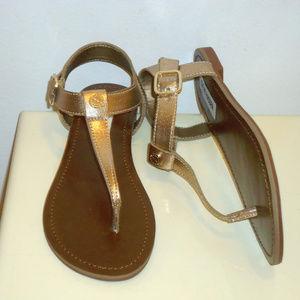 NIB Steve Madden Rose Gold Flat Sandals, SZ.6